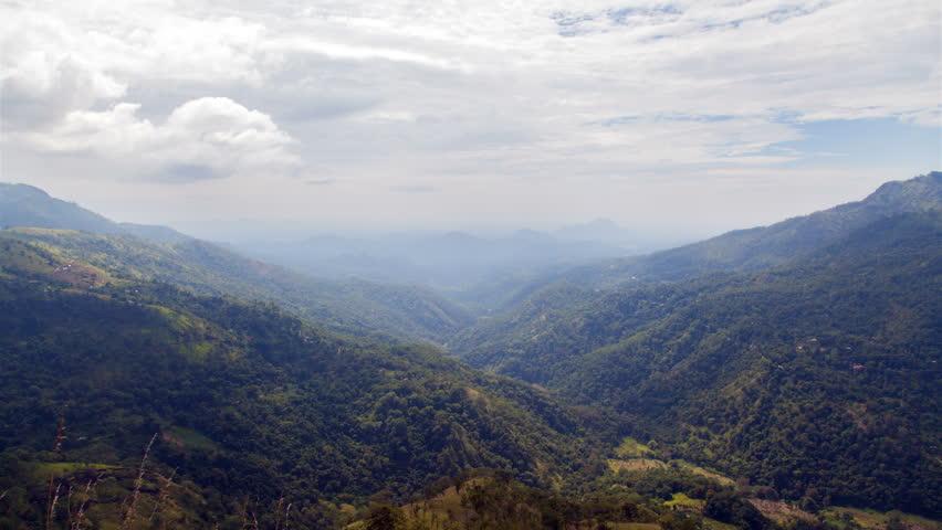 Beautiful mountain valley landscape in Ella, Sri Lanka timelapse   Shutterstock HD Video #1016634052
