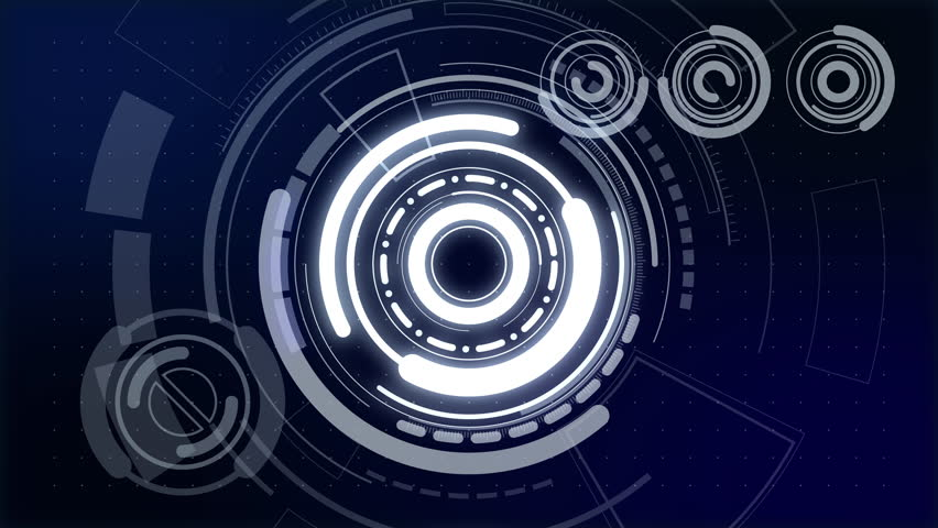 Futuristic interface concept. Loop background movie. | Shutterstock HD Video #1016643766