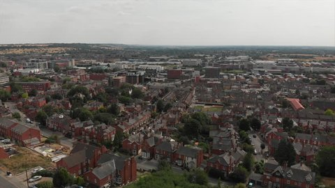 View of down hill Lincoln, the west end and south part of the city. Lincoln is a popular tourist destination and well regarded university city.