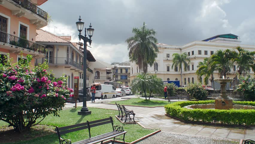 Old City Town - Panama City Royalty-Free Stock Footage #1016662360
