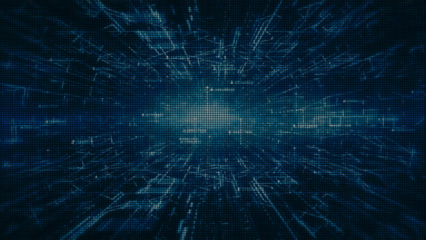 Hi-tech digital and information motion graphics abstract background blue color   Shutterstock HD Video #1016667328