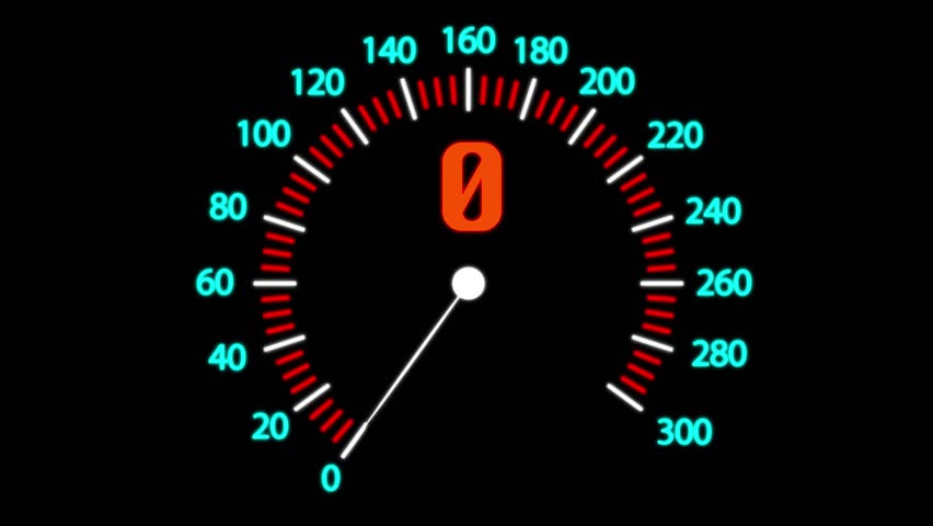 4K Simple animation of speedometer, motion graphics #1016695873