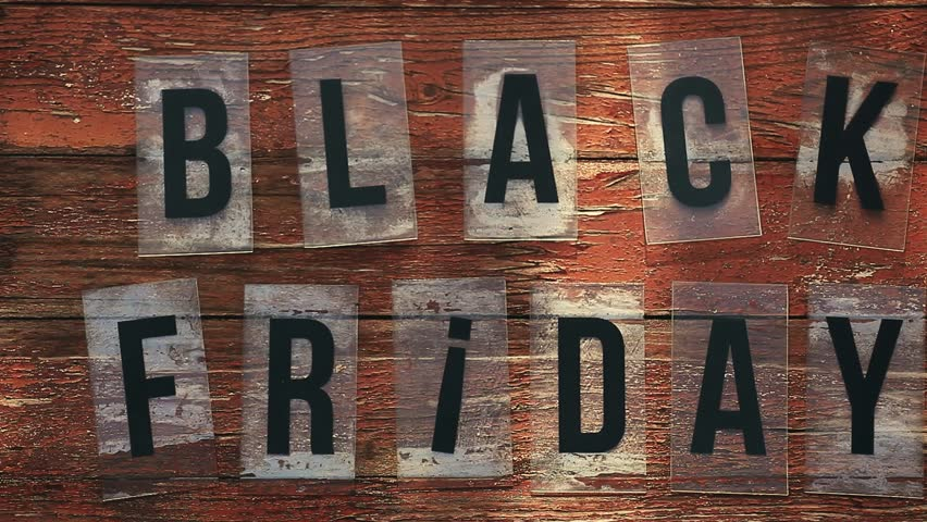 Black Friday text wooden table    Shutterstock HD Video #1016747566