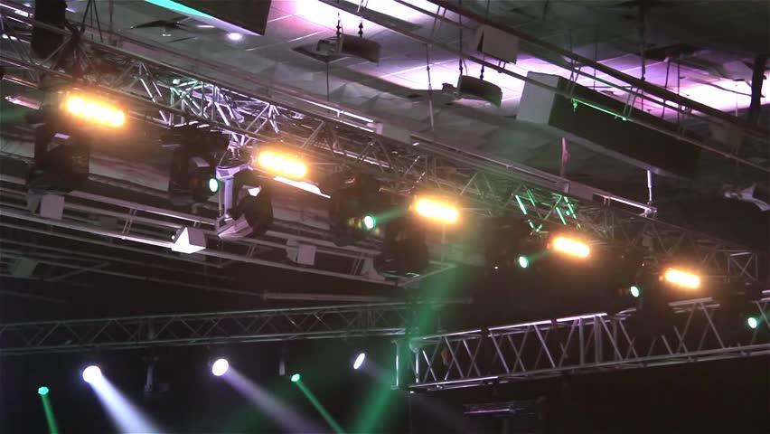 Stage Lights. Flashing Spotlight    Shutterstock HD Video #10167527