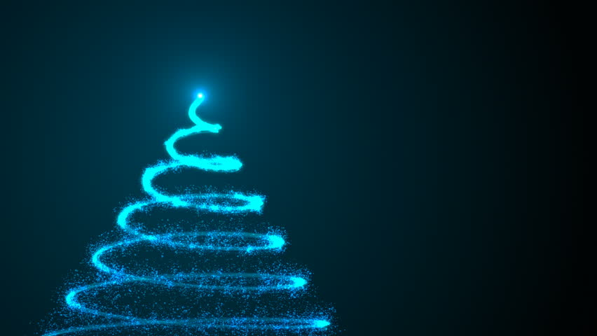 Christmas Tree on black background. Colorful 3d rendering backdrop | Shutterstock HD Video #1016755168