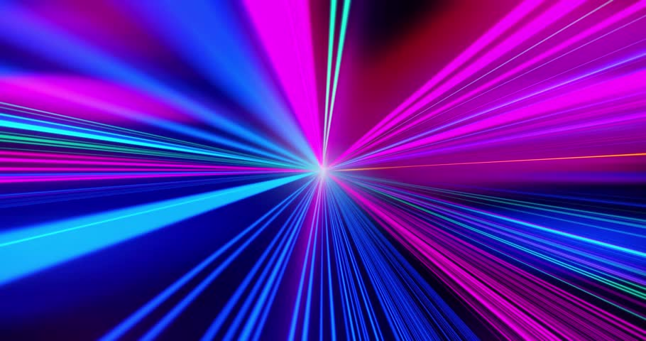 Loop Speed motion on the road. VJ Looped video. Green and blue Retro Neon background. Glowing lasers. Motion Graphic backdrop. Speed motion on the neon glowing road at dark. | Shutterstock HD Video #1016781106