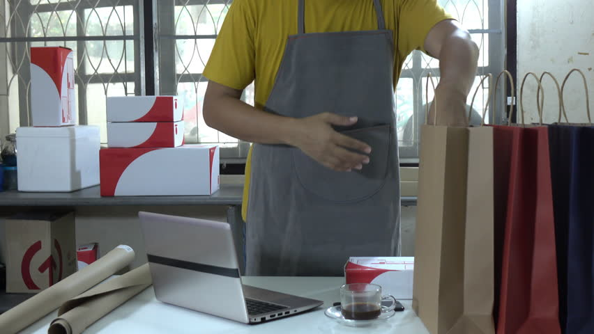 Asia man sale online with owner business in startup business concept | Shutterstock HD Video #1016802049