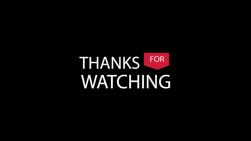 Thanks For Watching Transparent Video Stock Footage Video 100 Royalty Free 1016845558 Shutterstock