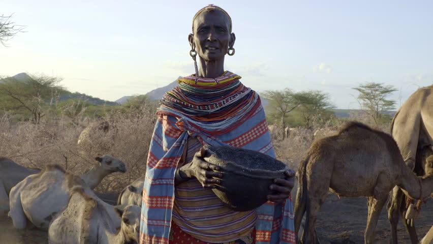 Senior woman, Samburu tribe. Kenya.