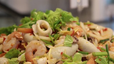 mixed spicy Thai salad