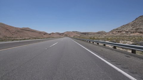 Desert Highway Canyon Driving Template Front View