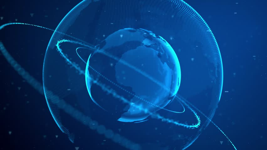 This is an awesome abstract motion graphic backdrop pack,features a digital high-tech animation of rotating 3D Earth. Drop your logo or text or other titles on top.