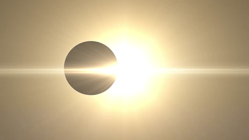 Solar Eclipse, view from space, unknown planet or moon | Shutterstock HD Video #1016936710