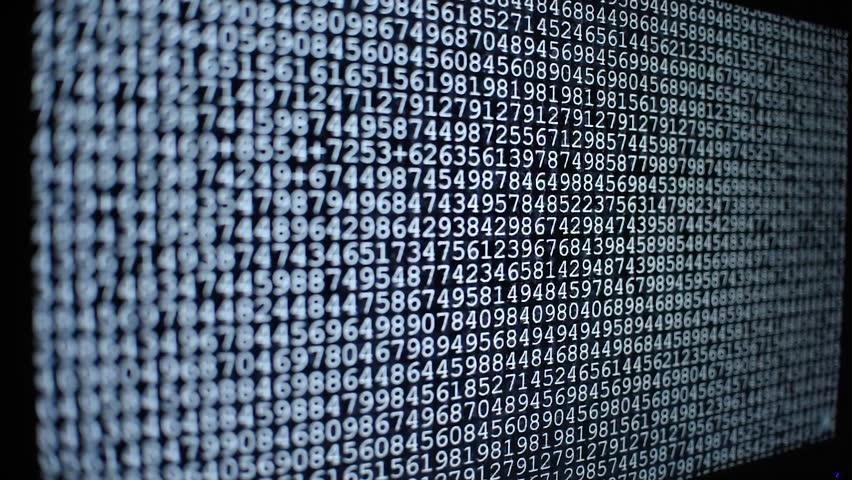 Computer ascii codes on screen running fast like Matrix, hacking, programming, virus atack or cyber crime   Shutterstock HD Video #1016962861