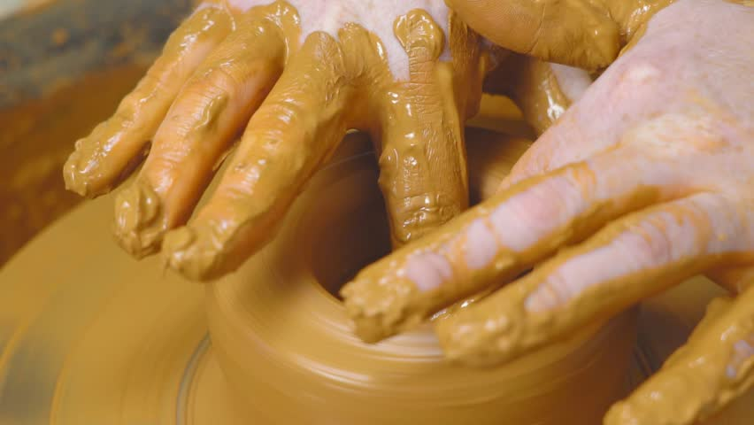 Potter makes a jug | Shutterstock HD Video #1016985229