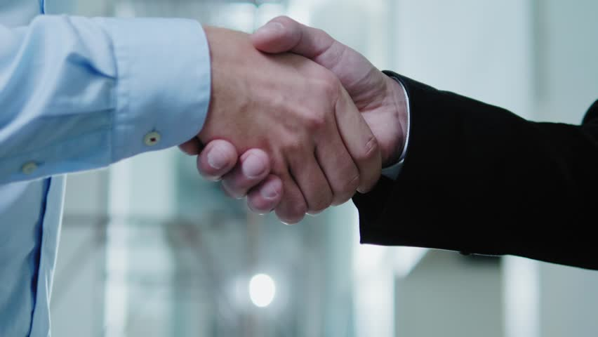 Two business partners shake their hands #1016992750
