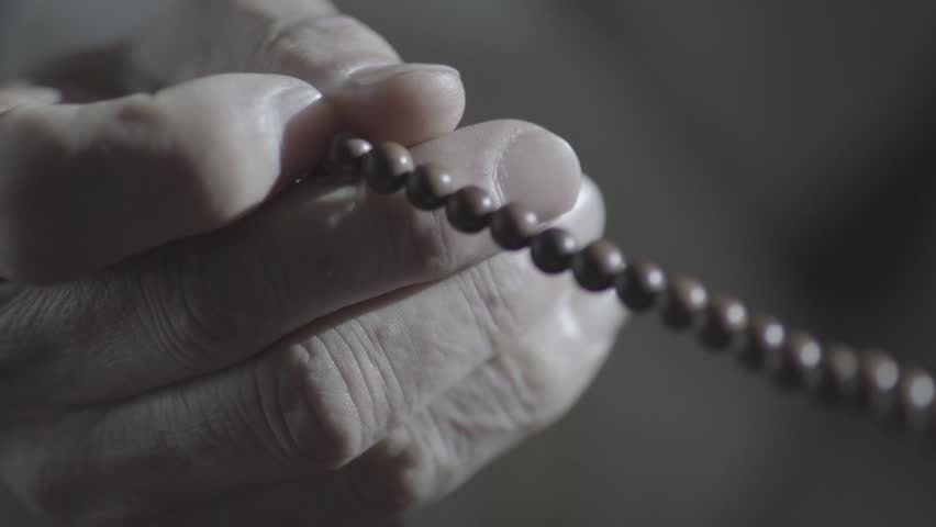 Man with rosary.Imam of mosques. | Shutterstock HD Video #1017030157
