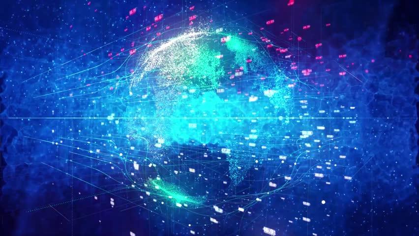 Global business communications background | Shutterstock HD Video #1017034381