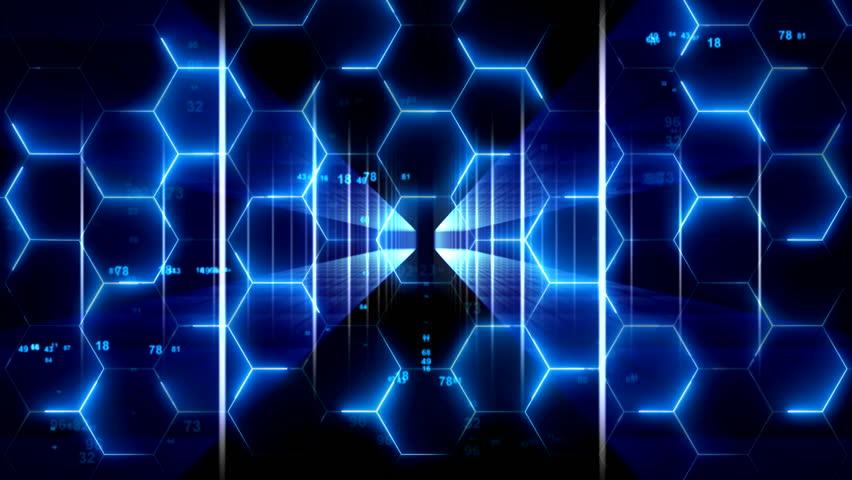 Abstract Hexagon Geometric Surface and light bright clean hexagonal grid pattern, random news motion background | Shutterstock HD Video #1017050389