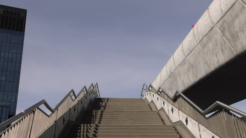 Modern stairs and banches. 4K, UHD, 50p, Cinematic,Closeup,    Shutterstock HD Video #1017058153