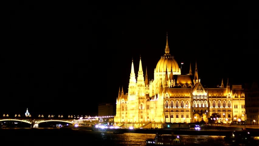 Night lights in Budapest | Shutterstock HD Video #10170857