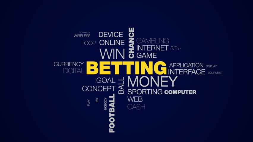 betting money win chance sport competition gamble bet luck football winner animated word cloud background