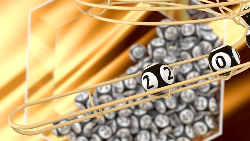 The year 2022 make up the rolling out bingo balls with a glow at the end | Shutterstock HD Video #1017132814
