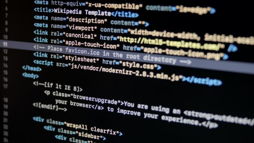 HTML Web Page Code Scrolling | Shutterstock HD Video #1017176872