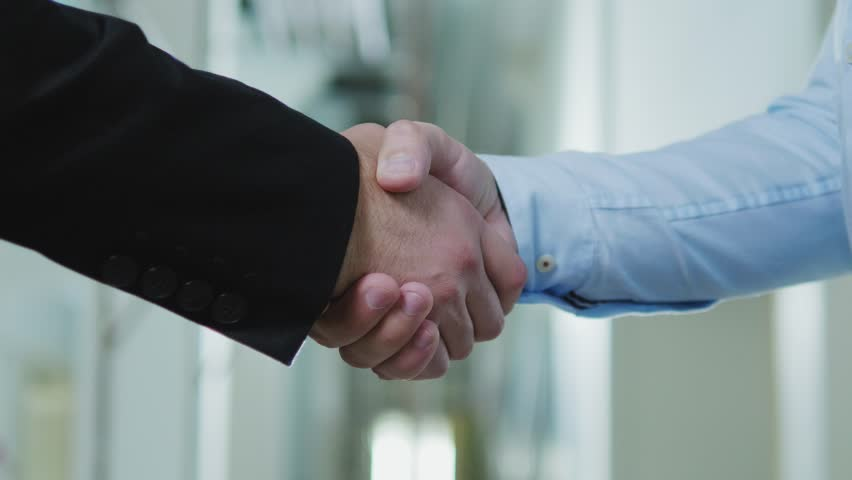 Two business partners shake their hands #1017182662