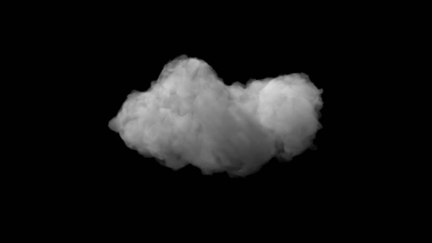 Beautiful storm cloud isolated on black background with alpha | Shutterstock HD Video #10172117