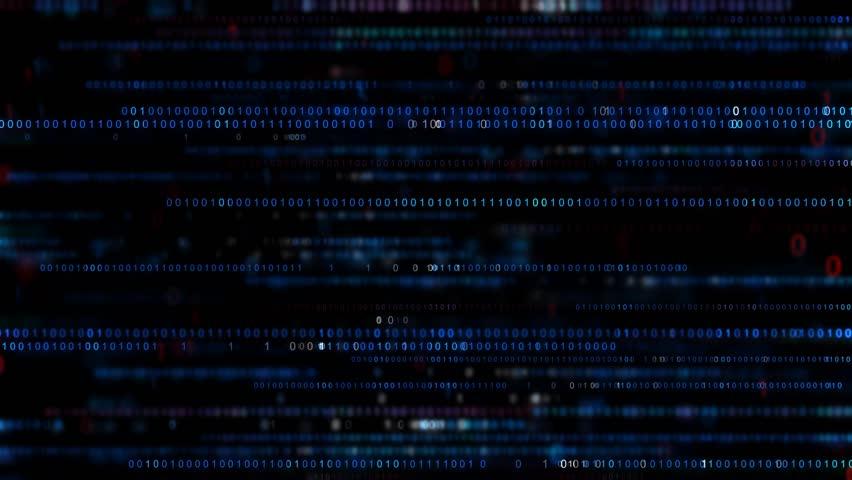 Digital binary code background. Big data digital code. Futuristic information technology concept. Computer generated seamless loop animation  | Shutterstock HD Video #1017217600