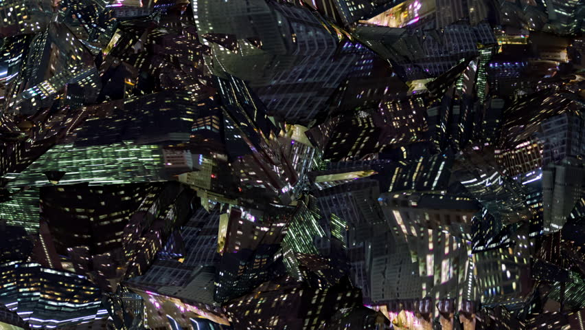 Polygonal Night City Texture Movement seamless animated background for video-installations, LED screens, show, mixing, music videos, broadcast TV, techno events, industrial theme. | Shutterstock HD Video #1017329404