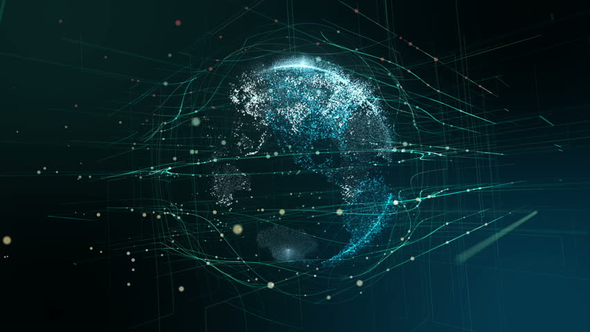 Abstract Digital Globe, Futuristic Technology | Shutterstock HD Video #1017353908
