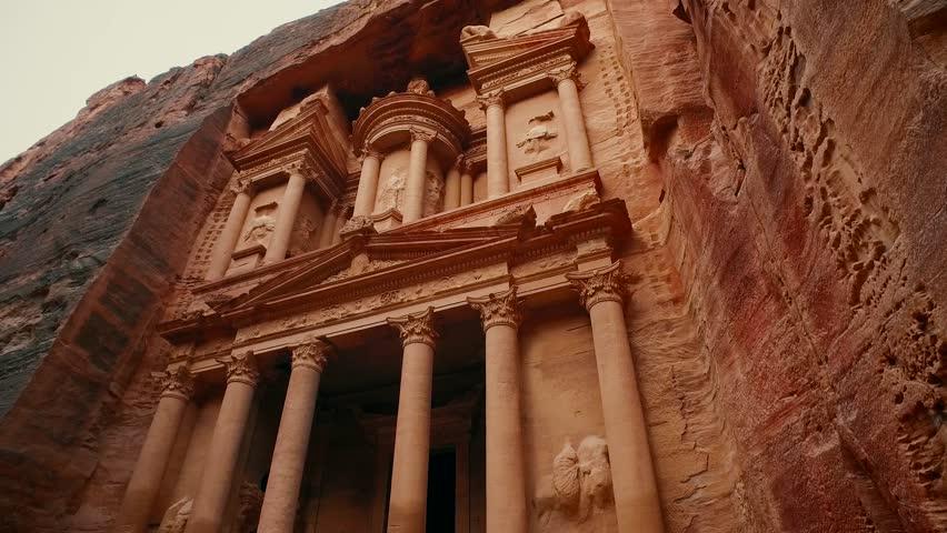 Jordan Petra Facade Of The Treasury Building The Ancient Nabatean
