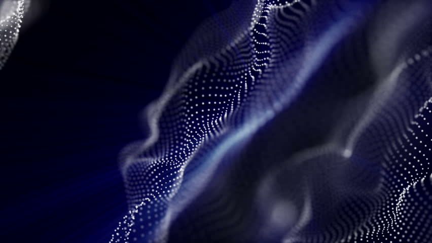 White particles with blue radiation fly on a black background. animated abstract background. 3d rendering | Shutterstock HD Video #1017496219