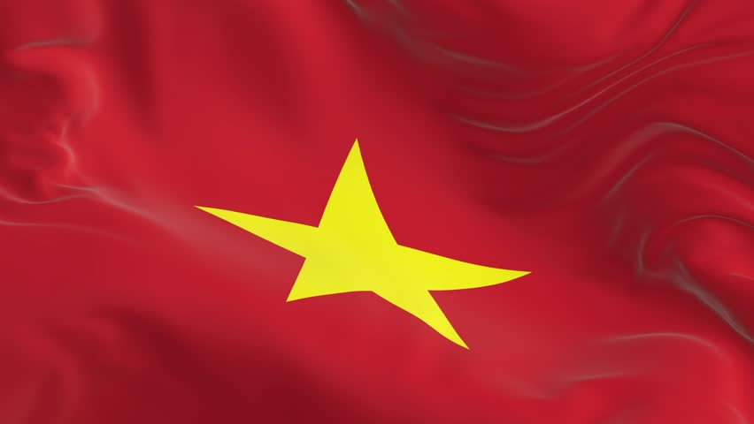 waving a looped flag as a background Vietnam #1017500131