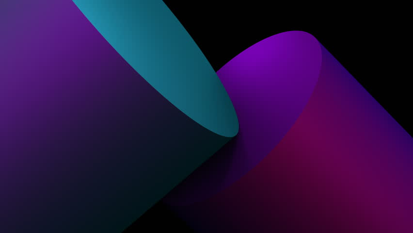 Abstract 3d rendering of geometric shapes. Modern background, looped animation. Seamless motion design. 4k UHD | Shutterstock HD Video #1017504760