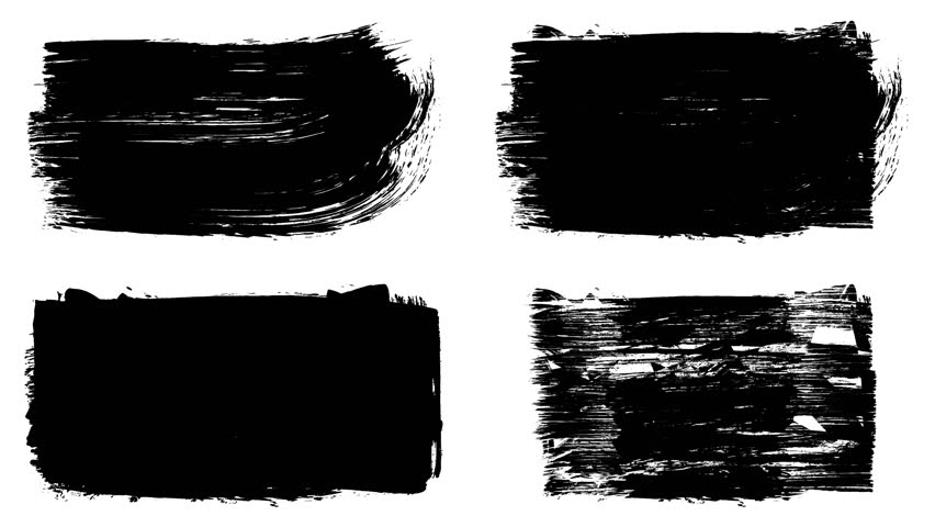 Set of grunge brush stroke. Abstract hand - painted element. Underline and border design. Seamless looping background. 4K | Shutterstock HD Video #1017528256