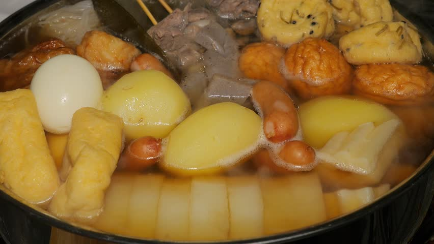 Japanese fish cake stew - Oden | Shutterstock HD Video #1017547729