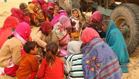 village poor people eating in Desert 16th Jan 2018 Rajasthan India