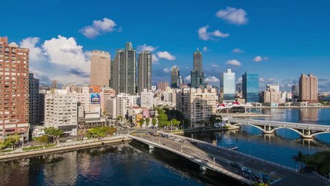 KAOHSIUNG, TAIWAN, JUNE 20 2018: Southern located in Taiwan, is a port city,