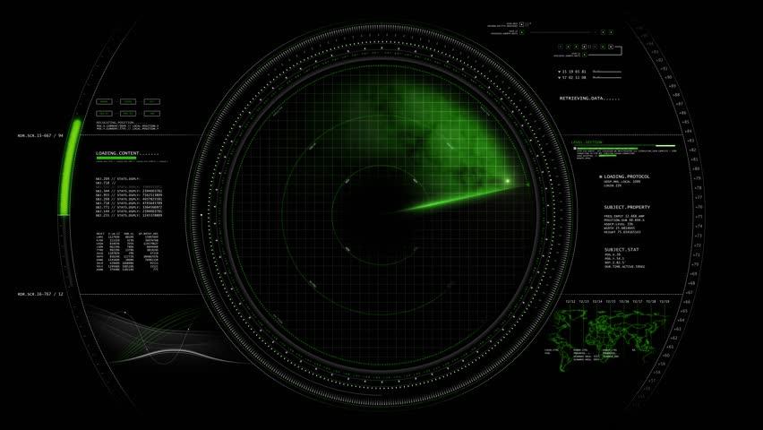 Radar HUD Screen Animation 4K | Shutterstock HD Video #1017713074