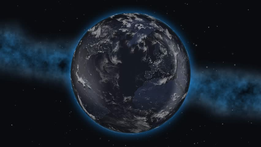 World planet country USA flag 3D 4K