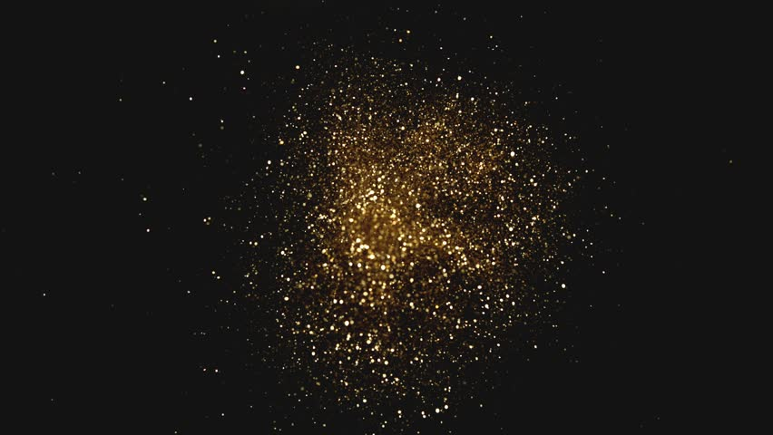 Golden glitter explosion in super slow motion shooted with high speed cinema camera. | Shutterstock HD Video #1017831328