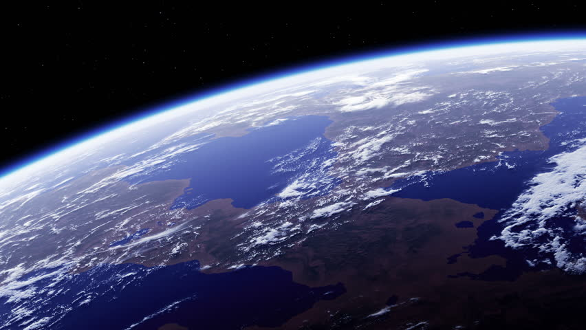 Planet Earth. Amazing View From Space. Ultra High Definition. 4K. 3840x2160. Seamless Looped. Realistic 3d Animation. | Shutterstock HD Video #1017852046