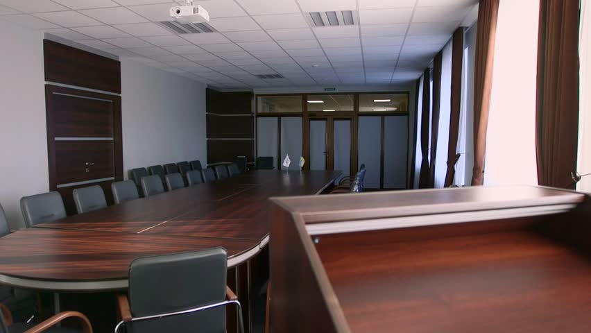 Empty conference room. Steadicam shot | Shutterstock HD Video #1017889639