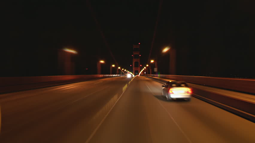 Night Driving Across Golden Gate Stock Footage Video 100 Royalty Free 1018000318 Shutterstock