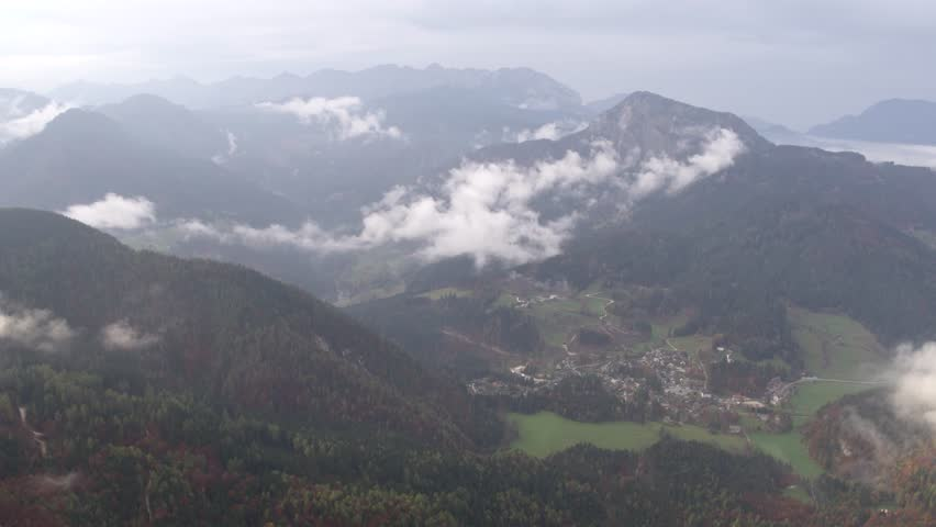 Small village in the moutains   Shutterstock HD Video #1018063177