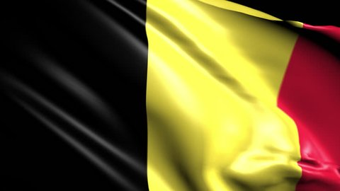 Flag of Belgium. Animated Slow pan to the right. Transition element