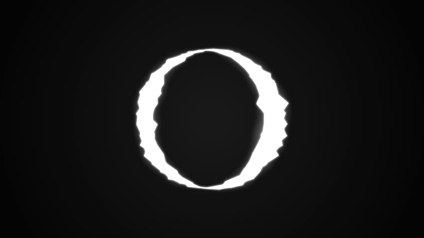 Abstract Circle On Black Background. Shot. Circle Like From The Ring Movie On Black | Shutterstock HD Video #1018115563